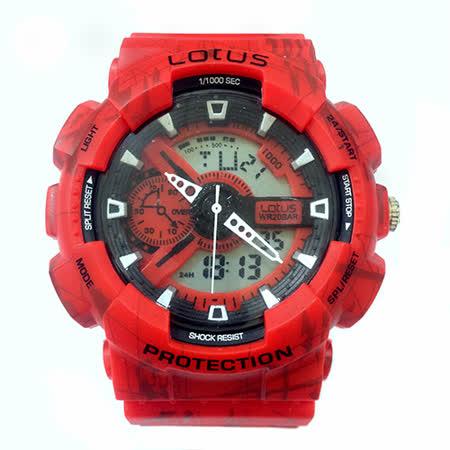 LOTUS 塗鴉街頭運動時尚電子腕錶-52mm/防水/禮物/G-SHOCK/現貨/LS-3187-02