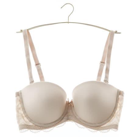 黛安芬-無肩帶透氧Bra B-D罩杯內衣(隱藏膚)