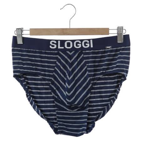sloggi Men-極尚系列 Wave 極細纖維三角內褲 M-XL(藍白條紋)
