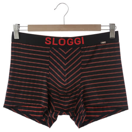 sloggi Men-極尚系列 Wave 極細纖維平口內褲 M-XL(黑紅條紋)