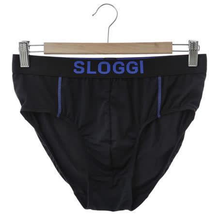 sloggi Men-合身系列 WinCool 涼感三角內褲 M-XL (黑藍)