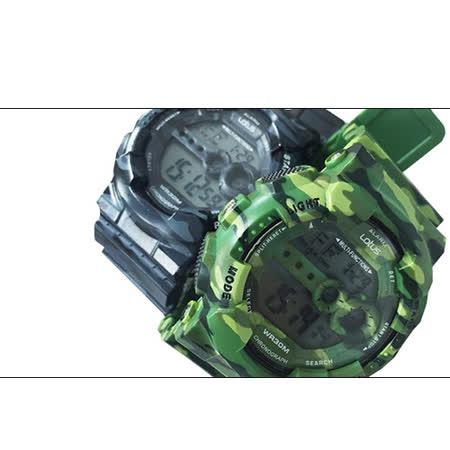 LOTUS 戰地迷彩軍事風潮流腕錶-52mm/防水/禮物/G-SHOCK/迷彩綠/TP1340M-04