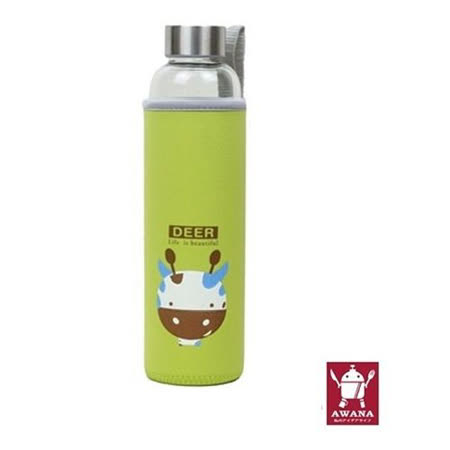 AWANA 動物耐熱玻璃杯550ml 兔/象/獅/長頸鹿