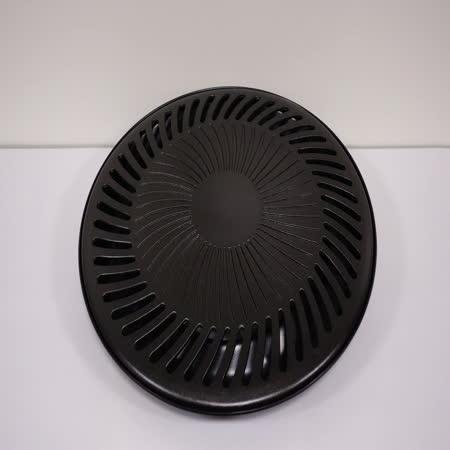 【歐喜廚】OSICHEF 韓式圓型無煙不沾燒烤盤(火烤兩用)韓式烤肉必備