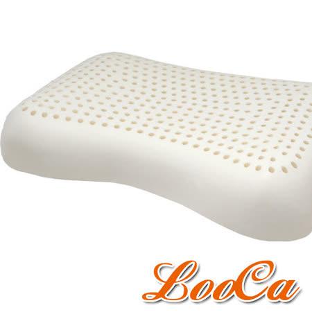 (團購2入) LooCa 全波型天然乳膠舒眠特大枕-2入
