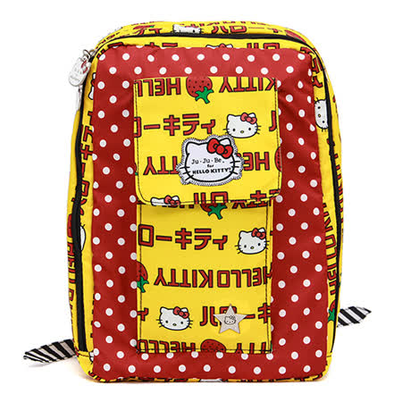 【美國JuJuBe媽咪包】HelloKitty聯名款MiniBe迷你後背包-Strawberry Stripes 草莓條紋