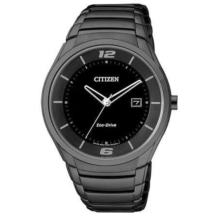 CITIZEN 星辰 GENT S- 光動能時尚腕錶/黑-40mm/BM6959-55E