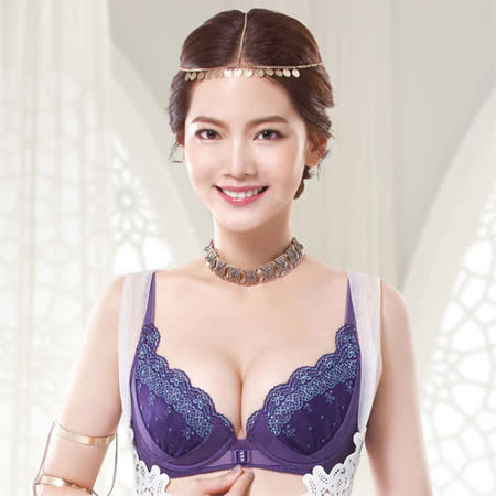 【莎薇】魔力推推心機魔力扣系列D-E罩杯內衣(紫水晶)