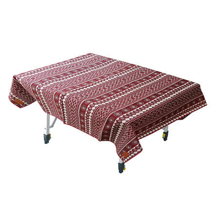 【Outdoorbase】漾彩防水桌布 (紅色百凌) 露營/海灘墊/戶外野餐/蛋捲桌桌布/巾 - 26046