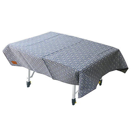 【Outdoorbase】漾彩防水桌布 (藍色三角) 露營/海灘墊/戶外野餐/蛋捲桌桌布/巾 - 26022