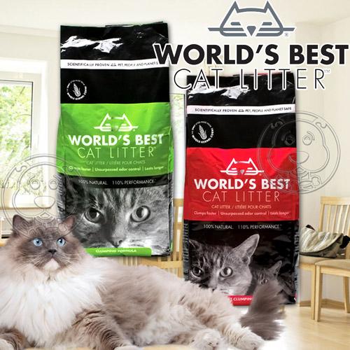 World s Best世嘉~強效凝結配方玉米貓砂~28磅12.7kg包