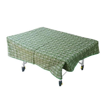 【Outdoorbase】漾彩防水桌布 (綠色幾何) 露營/海灘墊/戶外野餐/蛋捲桌桌布/巾 - 26015