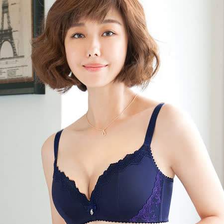 【Audrey】魔塑5D 無鋼圈B-D罩內衣(爵士藍)