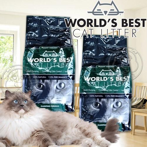 World s Best世嘉~強效凝結配方玉米貓砂森林花草香~6磅2.72kg包