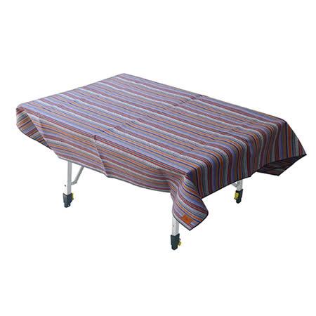 【Outdoorbase】漾彩防水桌布 (回紋民族) 露營/海灘墊/戶外野餐/蛋捲桌桌布/巾 - 26008