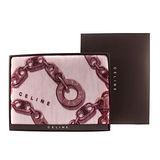 CELINE 經典鎖鏈LOGO保暖絨毛蓋毯(大)-紫紅色