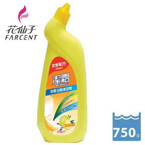 任選《花仙子》潔霜芳香浴廁清潔劑-檸檬樂園750ml