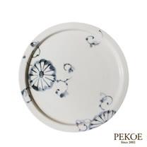 日本有田製窯-岡晉吾監製陶瓷平盤(菊繪)