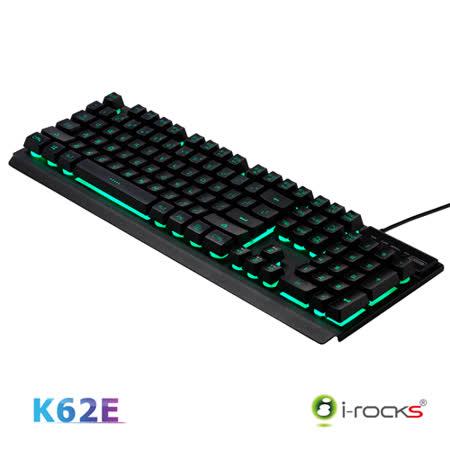 i-Rocks K62E多彩背光金屬遊戲鍵盤(黑)