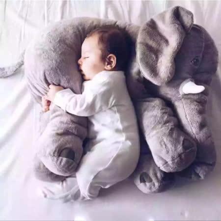 【PS Mall】療癒大象抱枕安撫嬰兒絨毛娃娃靠墊 2隻(J2001)