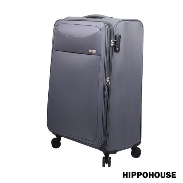 【HIPPOHOUSE】時尚輕旅 20吋可加大耐磨超輕商務行李箱愛 買 量販 店 /布箱(灰)