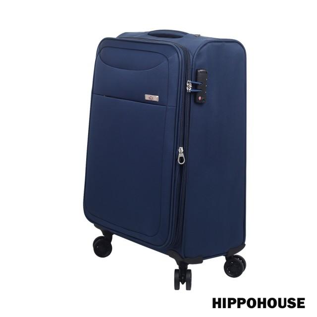 【HIPPOHOUSE】時尚輕旅 20吋可加大耐磨崇光 sogo超輕商務行李箱 /布箱(藍)