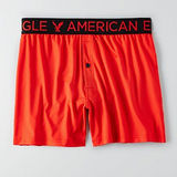 【American Eagle 】2016時尚彈力透氣紅色鈕扣平口內著【預購】