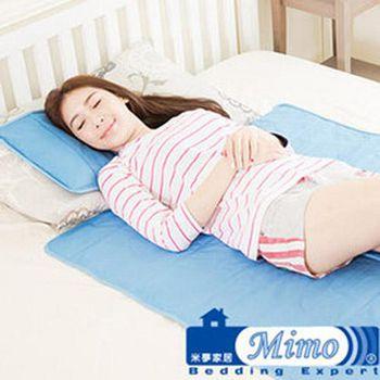 米夢家居 嚴選長效型降6度冰砂冰涼墊 (60*90CM)兒童、單人小床墊用(1入)