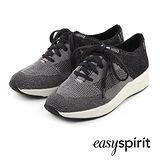 Easy Spirit--拼接設計厚底休閒鞋--灰黑拼接