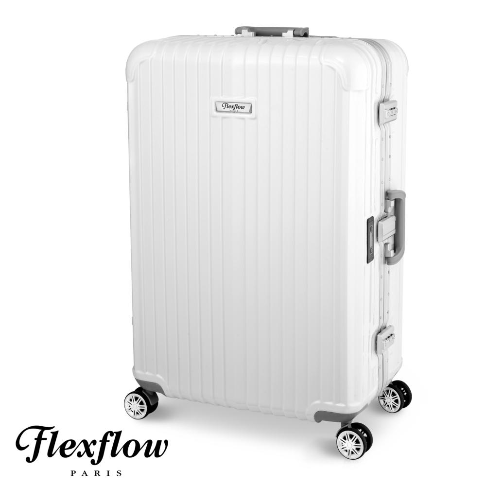 Flexflow-羅亞太平洋 sogo 百貨 忠孝 館爾旅人系列法國精品智能秤重旅行箱-珍珠白-26吋