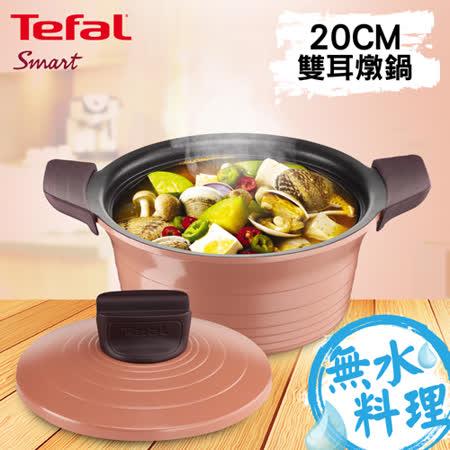 Tefal法國特福 御釜鑄造系列20CM 雙耳燉鍋 (附鑄造鍋蓋及矽膠隔熱手套)