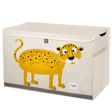 加拿大 3 Sprouts玩具收納箱-小花豹