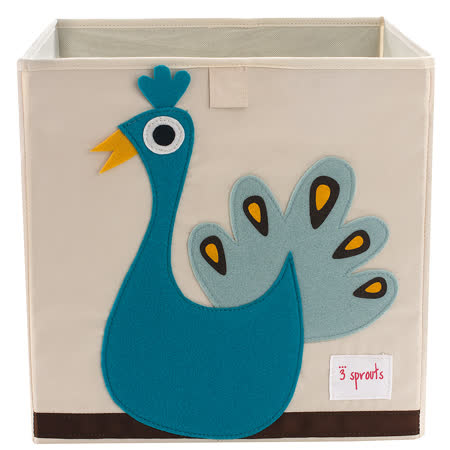 加拿大 3 Sprouts 收納箱-小孔雀