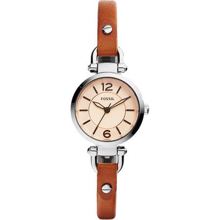 FOSSIL Georgia 優雅仕女腕錶-咖啡/26mm ES4025