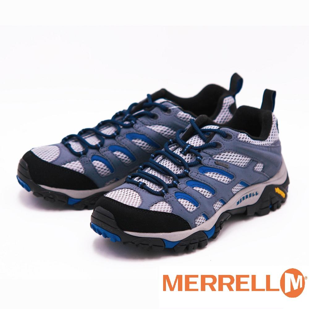 Merrell MOAB GORE黃金大底低筒健行鞋 男鞋~鐵灰
