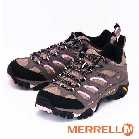 vMERRELL 65316 MOAB GORE-TEX XCR 黃金大底低筒健行鞋 女鞋-褐