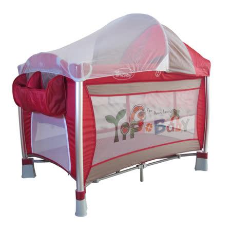 Yip Baby 豪華型嬰幼兒鋁管遊戲床(含雙層架+尿布台)