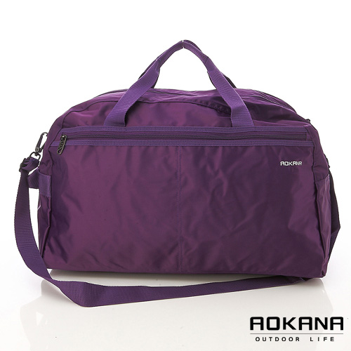 AOKANA奧卡納 MIT台灣製造 Y台中 中 友 百貨 公司KK拉鍊 輕量防潑水中型旅行袋(葡萄紫)03-009