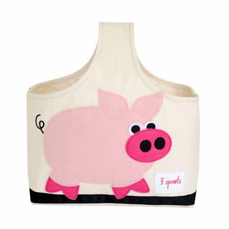 加拿大 3 Sprouts 手提收納包-粉紅豬