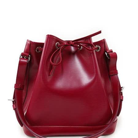 Louis Vuitton LV M40676 Petit Noé NM EPI水波紋皮革束口水桶包.紫紅_預購