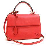 Louis Vuitton LV M41337 Cluny BB EPI水波紋兩用仕女包.紅