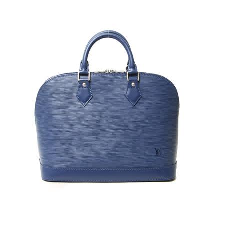 Louis Vuitton LV M40620 ALMA PM EPI水波紋皮革手提艾瑪包.靛藍_預購