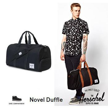 HERSCHEL Novel Duffles 旅行袋 - 黑/黑背帶