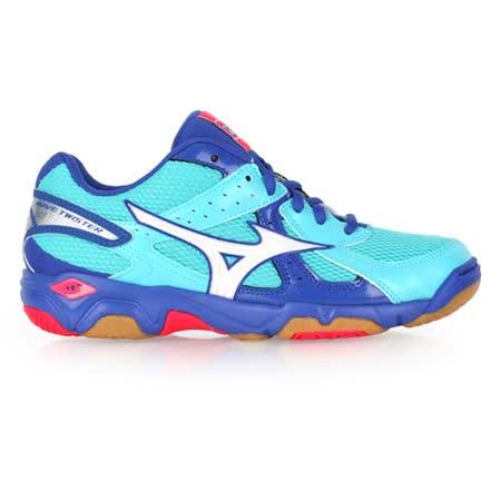 (女) MIZUNO WAVE TWISTER 4排球鞋- 美津濃 水藍桃紅