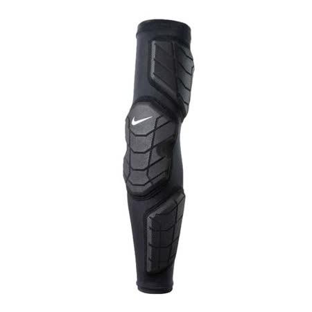 NIKE 防撞型右臂套 - 運動護具 籃球護臂 袖套 護肘 黑白 S