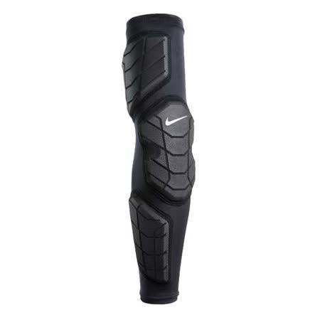 NIKE 防撞型左臂套 - 運動護具 籃球護臂 袖套 護肘 黑白 L
