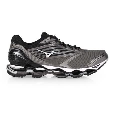 (男) MIZUNO WAVE PROPHECY 5 慢跑鞋 - 路跑 美津濃 黑灰白
