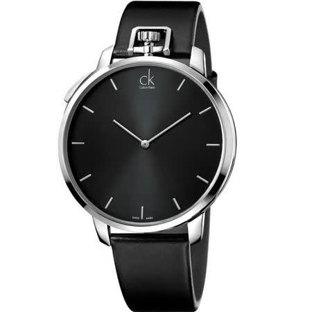 CK 魅力紳士時尚多變懷錶+手錶-黑(K3Z211C1)