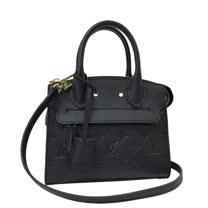Louis Vuitton LV M41743 Pont-Neuf Mini 經典壓紋全皮革兩用包.黑_預購