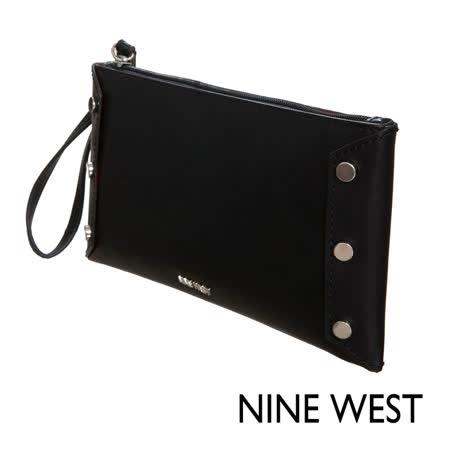 【好物推薦】gohappy 線上快樂購NINE WEST--小巧金屬釦綴飾手拿包--經典黑評價好嗎愛 買 客 igood